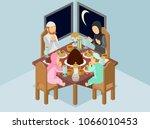 isometric vector illustration... | Shutterstock .eps vector #1066010453