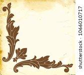retro baroque decorations... | Shutterstock .eps vector #1066010717