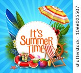 it's summer time banner design... | Shutterstock .eps vector #1066025507