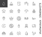 water outline icons set. linear ... | Shutterstock .eps vector #1066064273