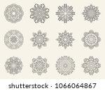 set of ornate mandala symbols....