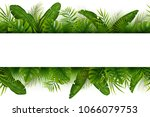 tropical jungle background with ... | Shutterstock .eps vector #1066079753