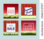 summer sale background  banners ... | Shutterstock .eps vector #1066112537