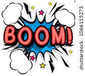boom   retro lettering with...   Shutterstock .eps vector #1066115273