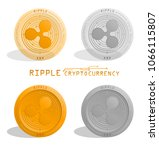 cryptocurrency. ripple  digital ... | Shutterstock .eps vector #1066115807