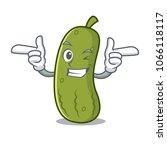 wink pickle character cartoon...   Shutterstock .eps vector #1066118117