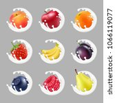 collection icons of fruit and... | Shutterstock .eps vector #1066119077
