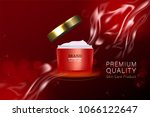 red cosmetic container with...   Shutterstock .eps vector #1066122647