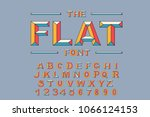 Vector Of Modern Bold Font And...