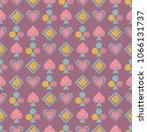 seamless geometrical pattern... | Shutterstock . vector #1066131737