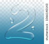 number two.vector letter 2... | Shutterstock .eps vector #1066140143