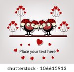 two love ladybugs | Shutterstock .eps vector #106615913