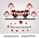 two love ladybugs   Shutterstock .eps vector #106615913