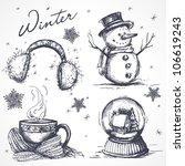 winter design elements | Shutterstock .eps vector #106619243