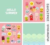 hello summer bright tropical... | Shutterstock .eps vector #1066192493