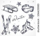 winter design elements | Shutterstock .eps vector #106620083