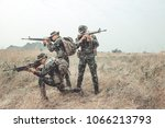 soldier ready his weapon.... | Shutterstock . vector #1066213793