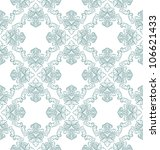 vector seamless floral damask... | Shutterstock .eps vector #106621433