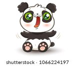 vector illustration of a cute... | Shutterstock .eps vector #1066224197