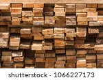 pile of cut wood for... | Shutterstock . vector #1066227173