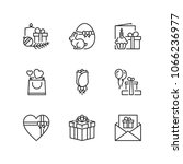 outline icons about holidays... | Shutterstock .eps vector #1066236977