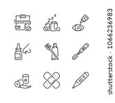 outline icons about... | Shutterstock .eps vector #1066236983