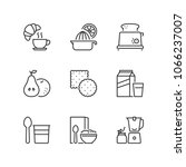 outline icons about breakfast.... | Shutterstock .eps vector #1066237007