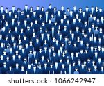 concept of community. the crowd ... | Shutterstock .eps vector #1066242947