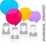 people talking   Shutterstock .eps vector #106624307
