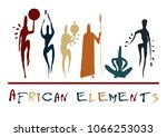 African Elements Silhouette...