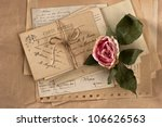 Dry Rose And Old Letters....