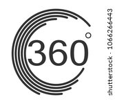 360 degrees angle icon on white ...   Shutterstock .eps vector #1066266443