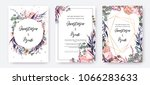 wedding invitation frame set ... | Shutterstock .eps vector #1066283633