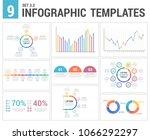 9 infographic templates  set 3  ... | Shutterstock .eps vector #1066292297