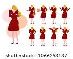 business woman set.  blond... | Shutterstock .eps vector #1066293137