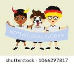 fan of germany national... | Shutterstock .eps vector #1066297817