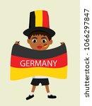 fan of germany national... | Shutterstock .eps vector #1066297847