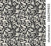 seamless brushpen textile... | Shutterstock . vector #1066299833