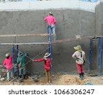 workers were plastering.   Shutterstock . vector #1066306247