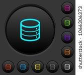 single database dark push...   Shutterstock .eps vector #1066306373