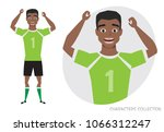 black african american football ... | Shutterstock .eps vector #1066312247