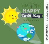 earth day  happy sun heats... | Shutterstock .eps vector #1066322867
