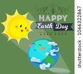 earth day  happy sun heats... | Shutterstock .eps vector #1066322867