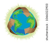 earth day  recycle symbol... | Shutterstock .eps vector #1066322903