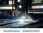 plasma cutting metalwork... | Shutterstock . vector #1066323353