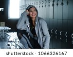 a beautiful fit girl with a...   Shutterstock . vector #1066326167