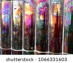 iridescent spanish tiles | Shutterstock . vector #1066331603