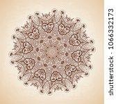 vintage vector pattern. hand... | Shutterstock .eps vector #1066332173