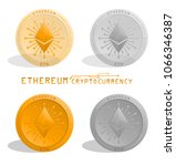 cryptocurrency. ethereum coin ... | Shutterstock .eps vector #1066346387