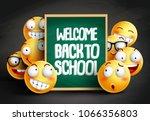 smileys yellow emoticons in... | Shutterstock .eps vector #1066356803